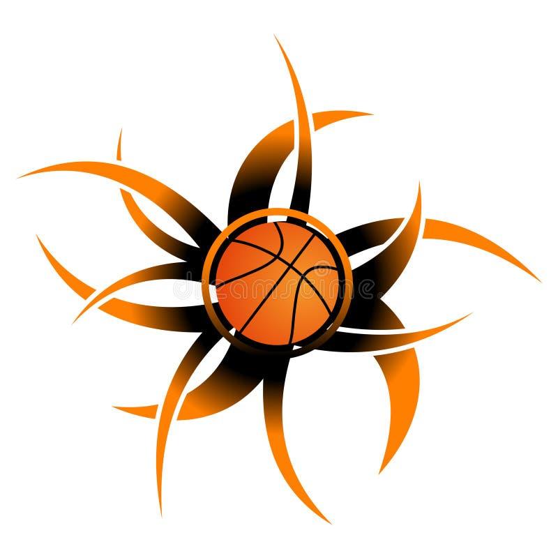 Graphisme abstrait de basket-ball illustration de vecteur