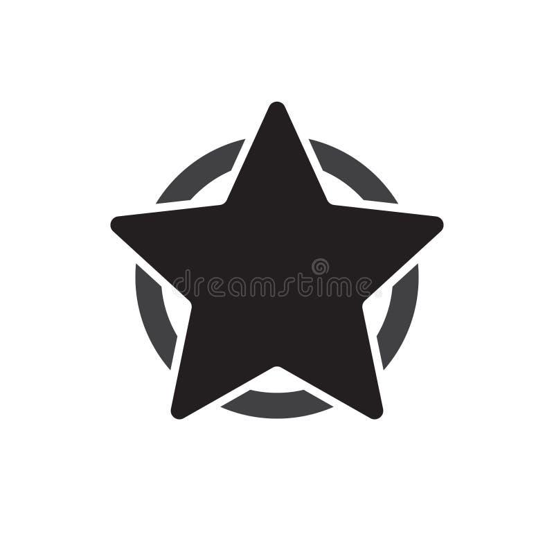 Graphisme américain d'étoile Étoile dans l'icône de cercle illustration de vecteur