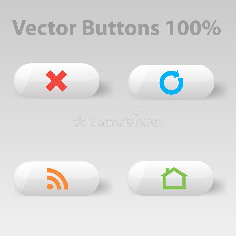Graphisme avec le bouton blanc illustration libre de droits
