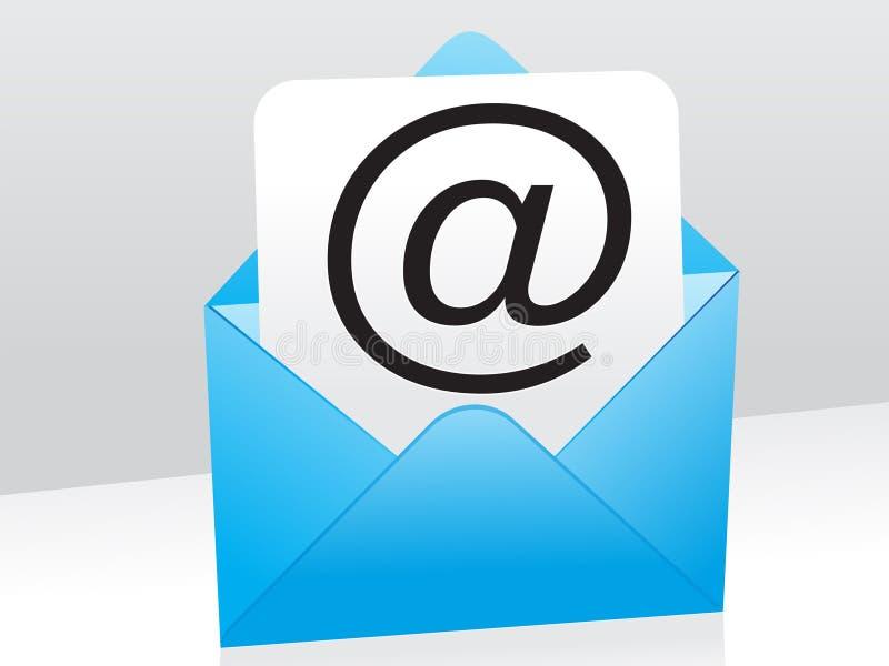 Graphisme bleu abstrait de courrier illustration stock