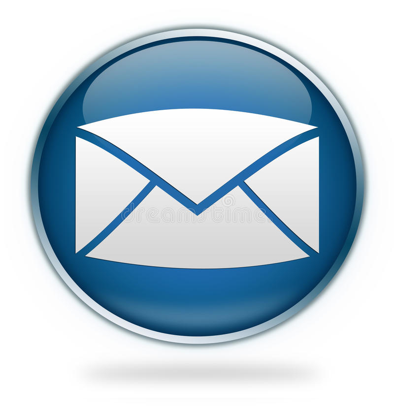 graphisme bleu d'email de bouton illustration stock