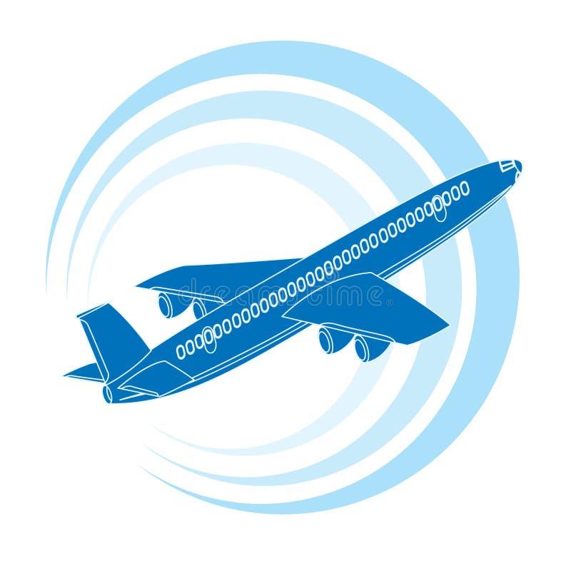graphisme bleu de couleur d'avion illustration de vecteur
