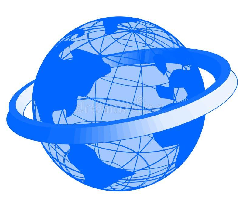 Graphisme bleu de la terre illustration de vecteur
