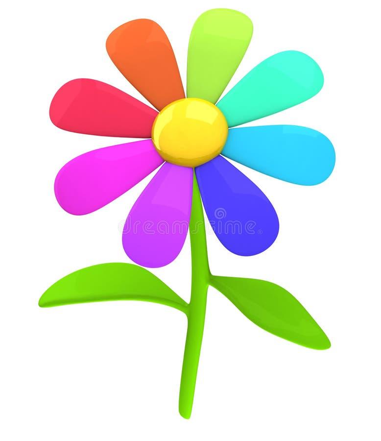 Graphisme coloré 3d de fleur illustration de vecteur