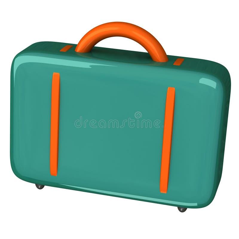 Graphisme coloré 3d de valise illustration stock