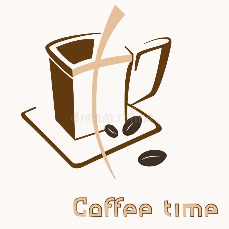 Graphisme coloré de cuvette de café illustration libre de droits
