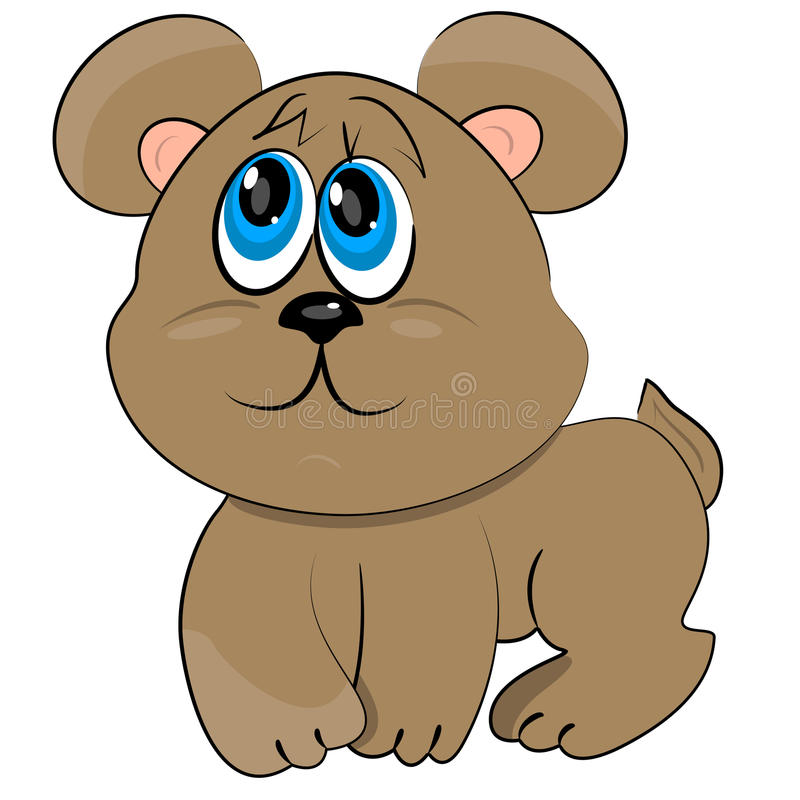 Graphisme curieux d'ours de chéri illustration de vecteur