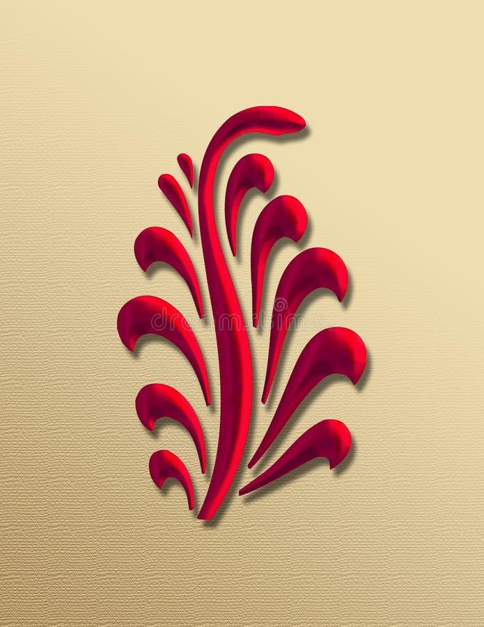Graphisme décoratif d'art déco illustration libre de droits