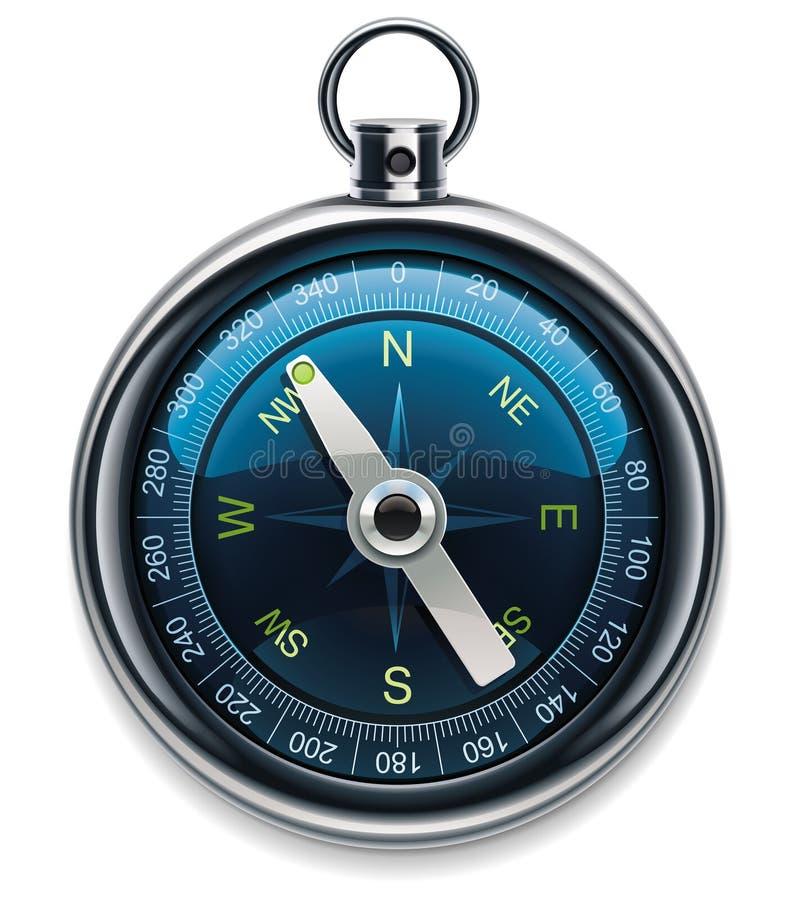 Graphisme détaillé du compas XXL de vecteur illustration de vecteur