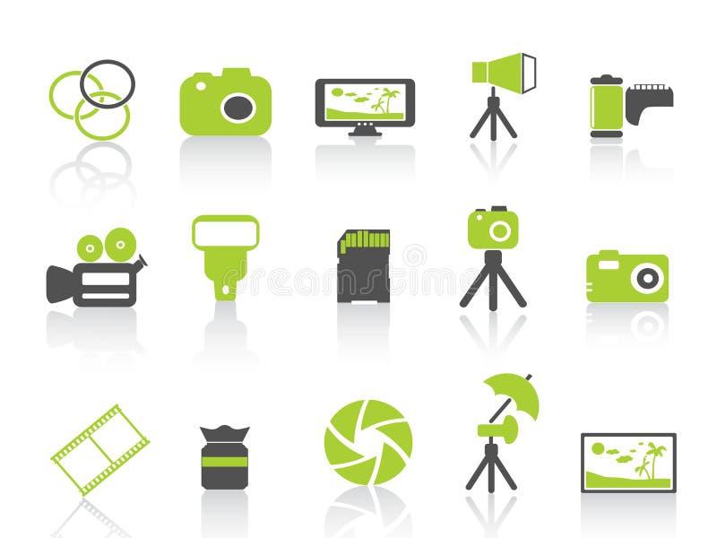 Graphisme d'élément de photographie, série verte illustration stock
