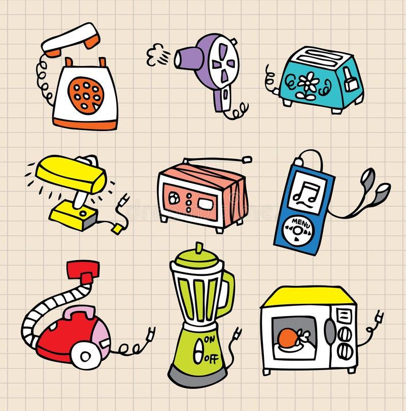 Graphisme d'élément des travaux domestiques illustration stock