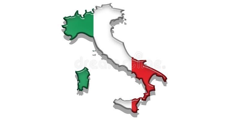 Graphisme d'état de l'Italie illustration libre de droits