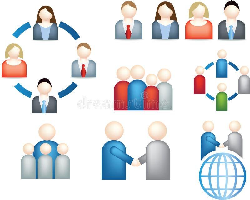 Graphisme d'affaires de travail d'équipe illustration de vecteur