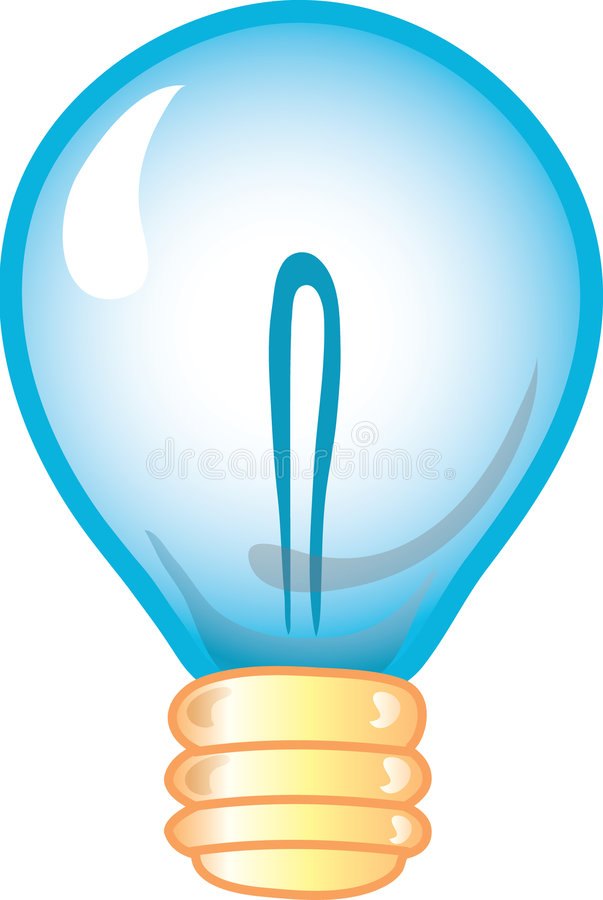 Graphisme d'ampoule illustration libre de droits