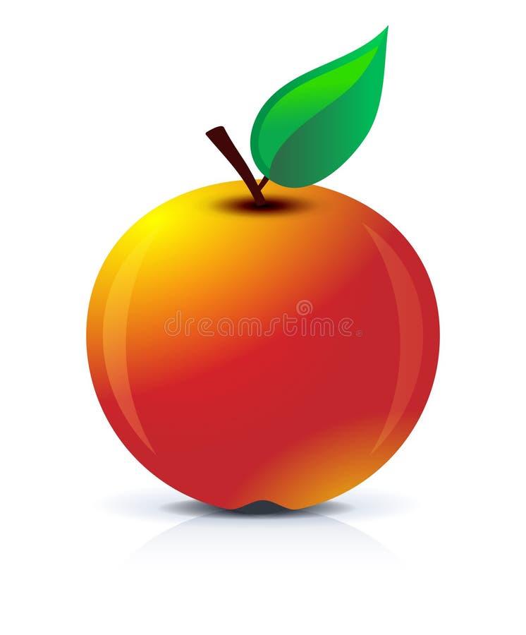 Graphisme d'Apple illustration de vecteur