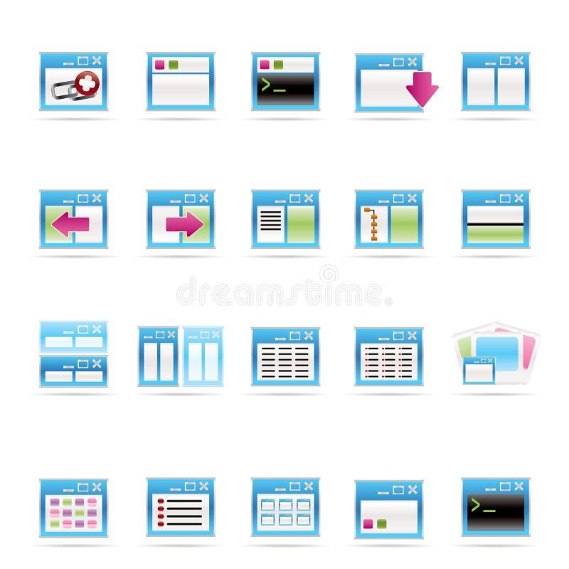 Graphisme d'application, de programmation, de serveur et d'ordinateur illustration de vecteur