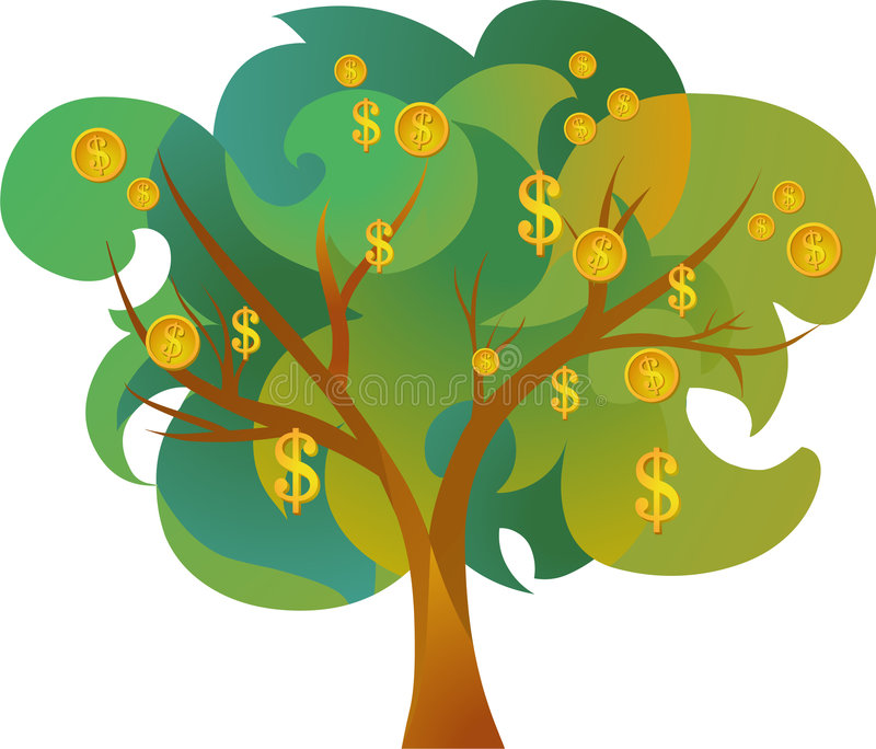Graphisme d'arbre d'argent illustration stock