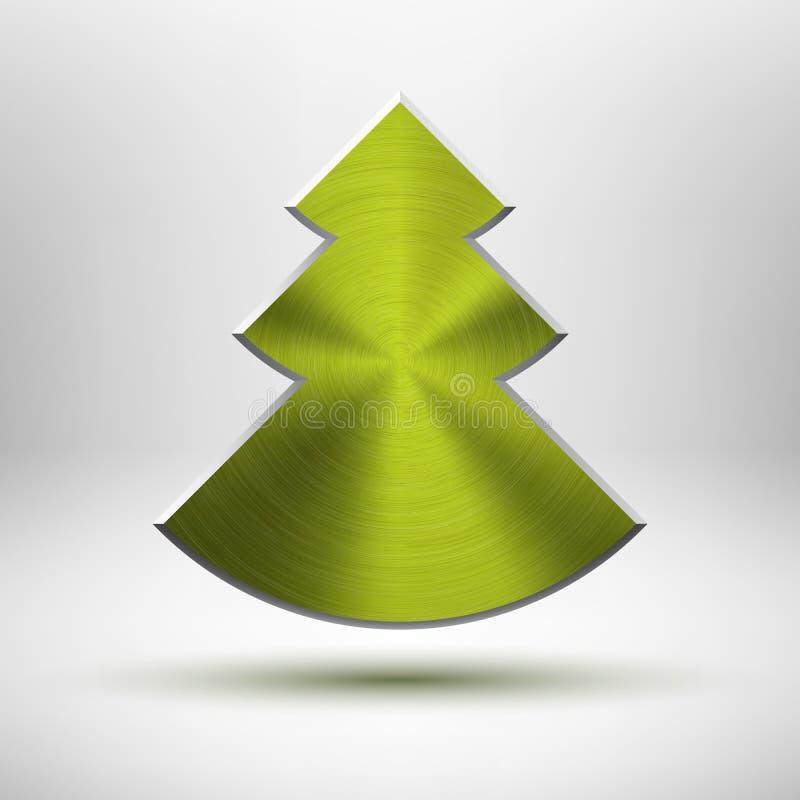 Graphisme d'arbre de Noël de Tecnology avec la texture en métal illustration libre de droits