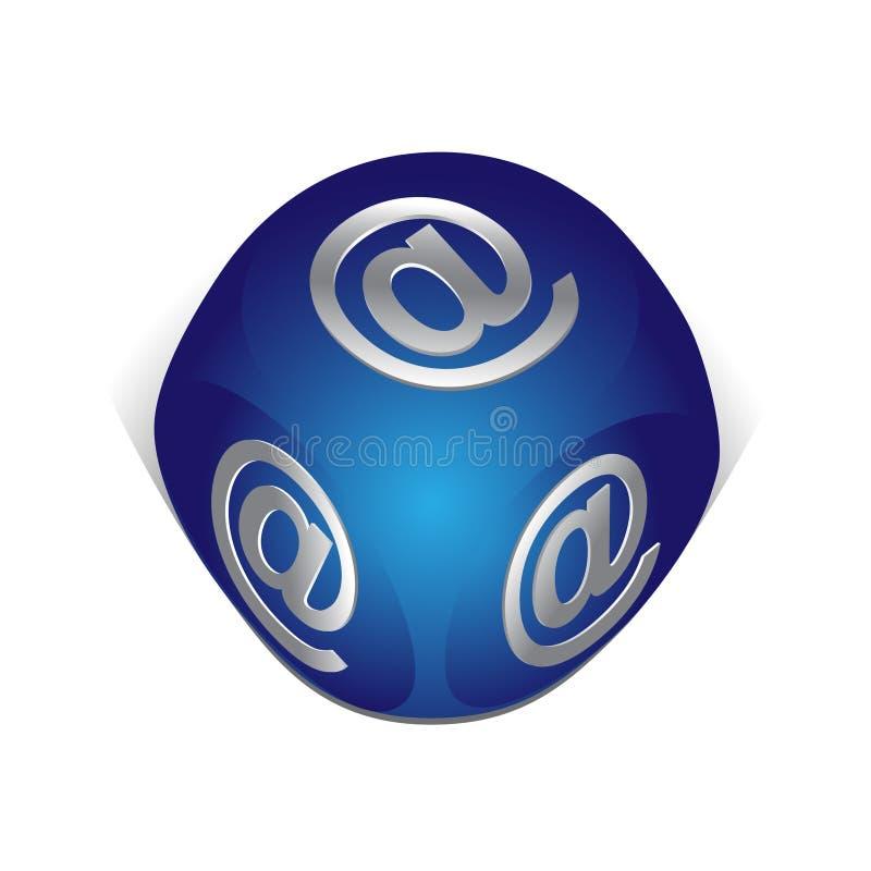 graphisme d'email de cube illustration stock