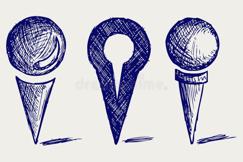 Graphisme d'emplacement illustration stock