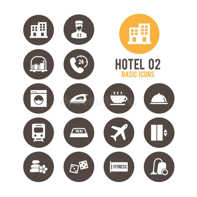 Graphisme d'hôtel Illustration de vecteur images libres de droits