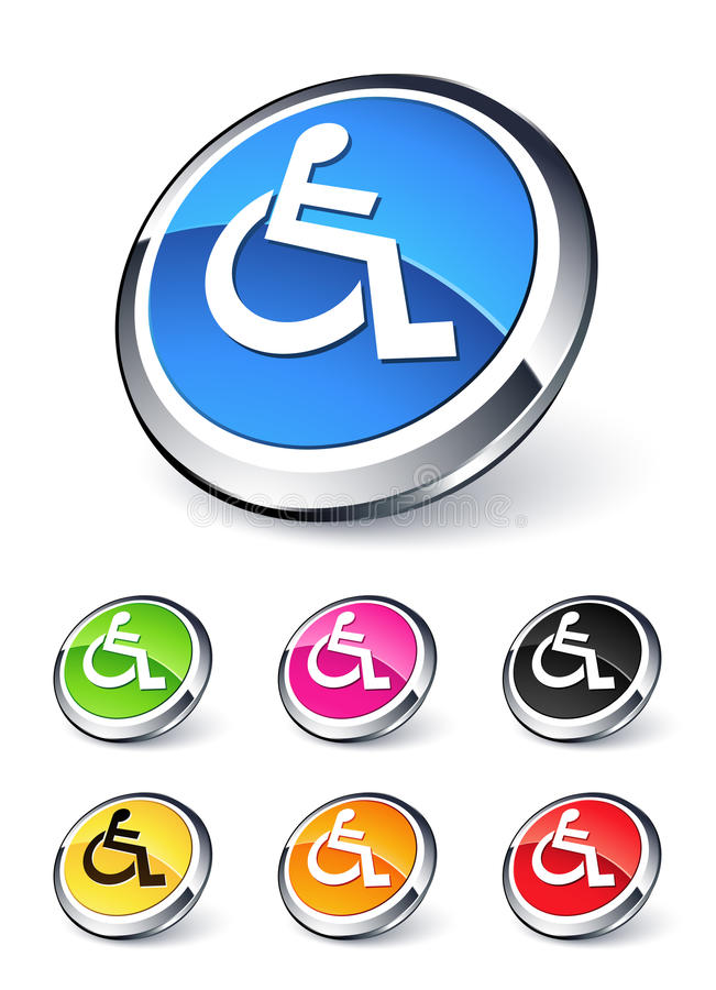 Graphisme d'handicap illustration libre de droits