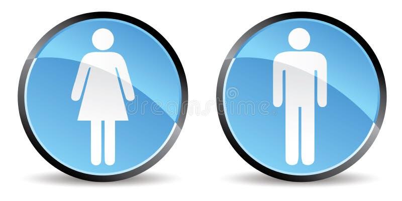 Graphisme d'hommes de femme illustration de vecteur