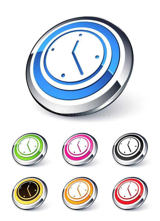 Graphisme d'horloge illustration libre de droits
