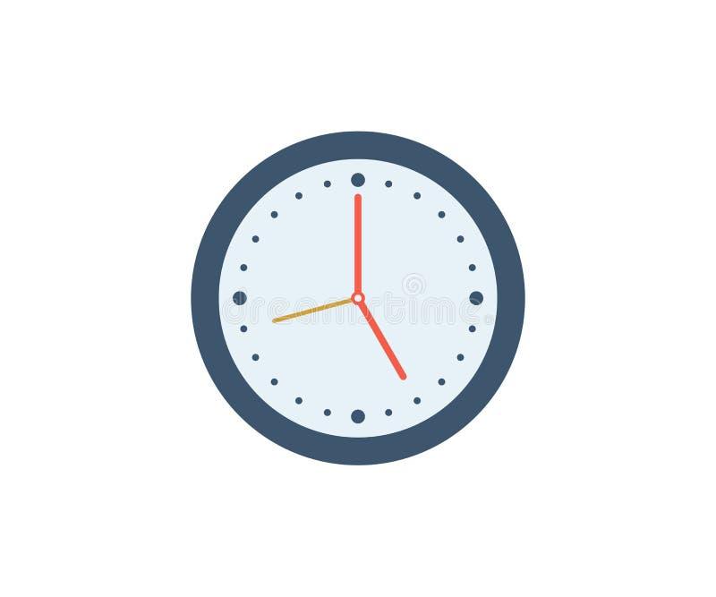 Graphisme d'horloge Illustration de vecteur dans le style minimaliste plat illustration libre de droits