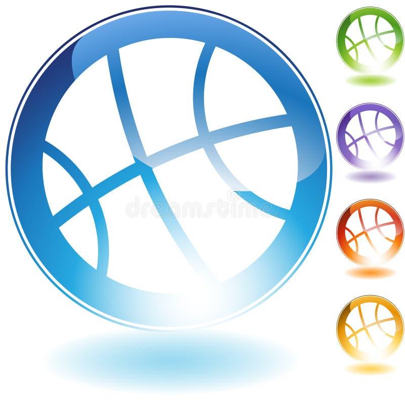 Graphisme de basket-ball illustration libre de droits