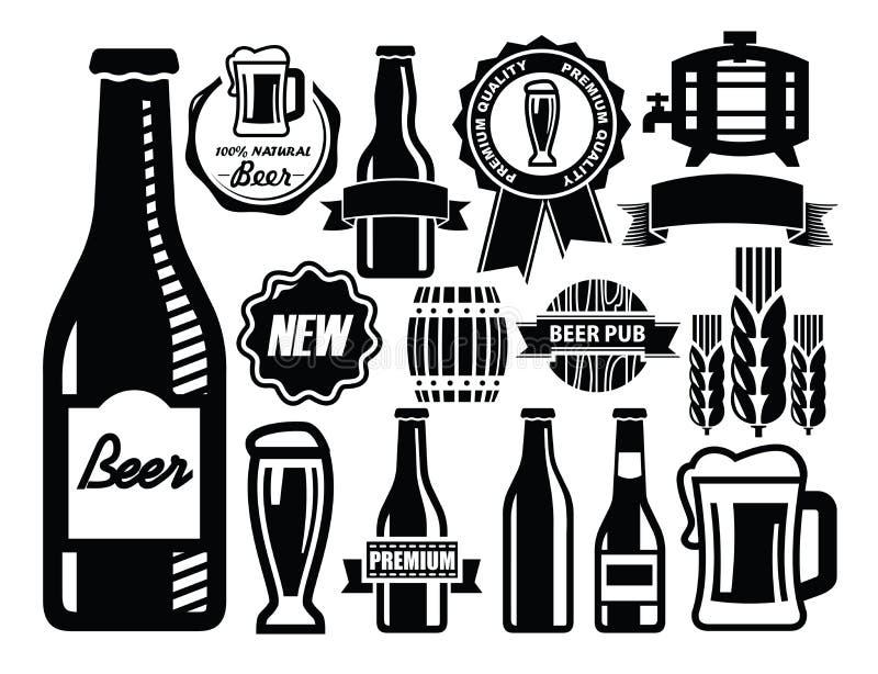 Graphisme de bière illustration de vecteur