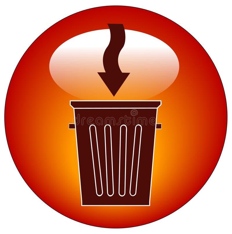 Graphisme de bidon d'ordures illustration libre de droits