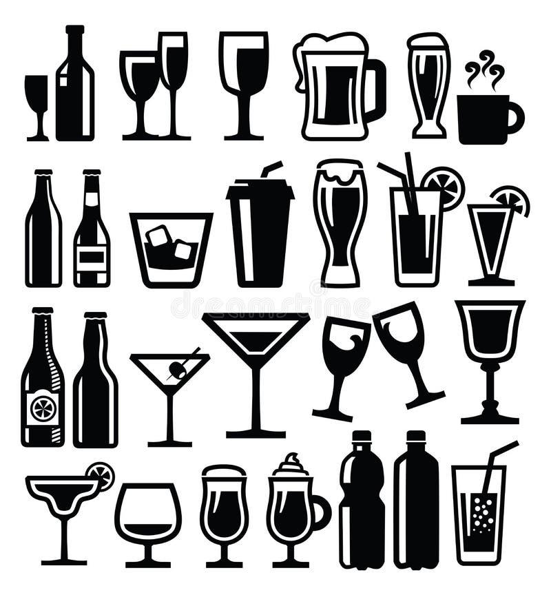 Graphisme de boissons illustration libre de droits