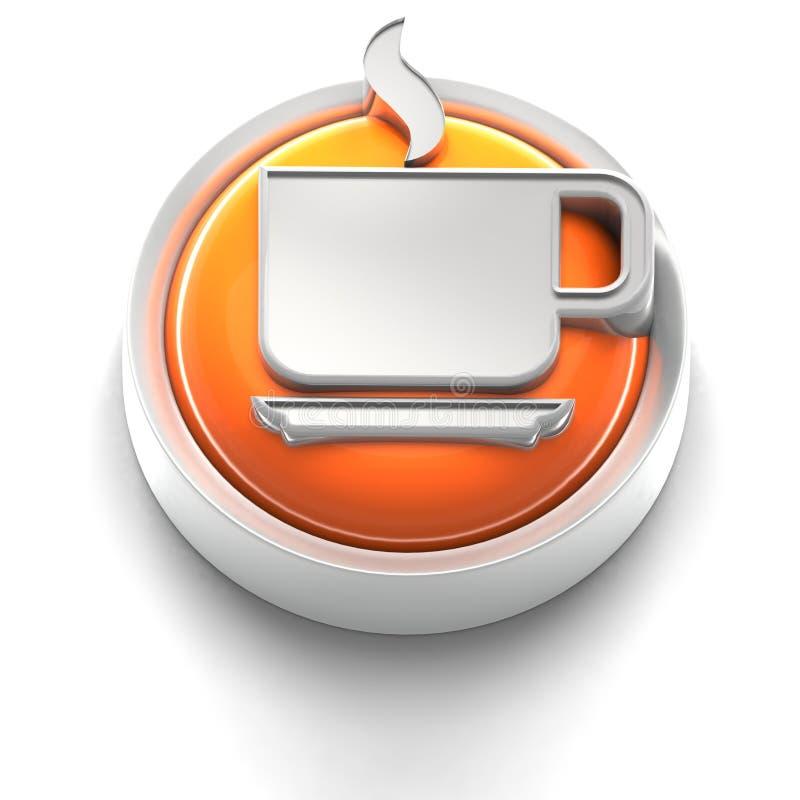 Graphisme de bouton : Café illustration stock