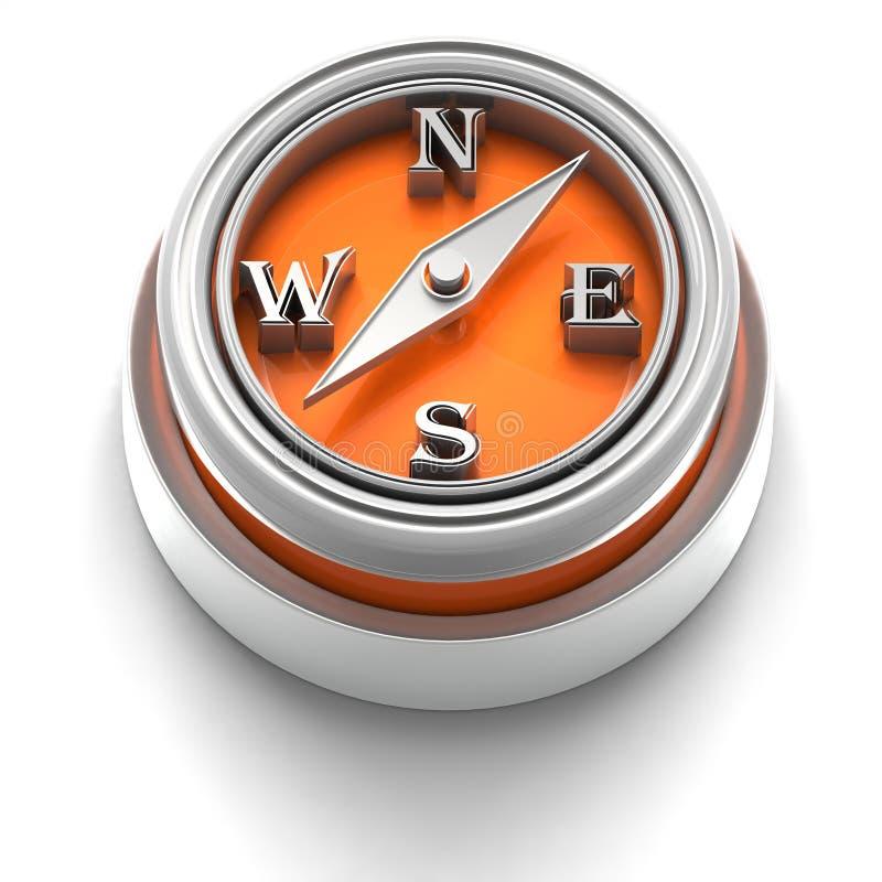 Graphisme de bouton : Compas illustration stock