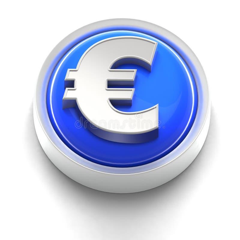 Graphisme de bouton : Euro illustration stock