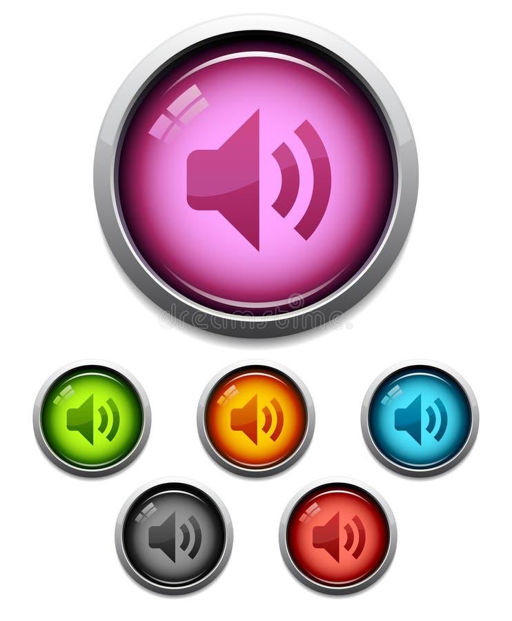 Graphisme de bouton sonore illustration libre de droits