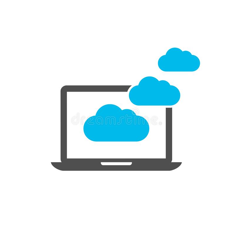 Graphisme de calcul de nuage illustration libre de droits