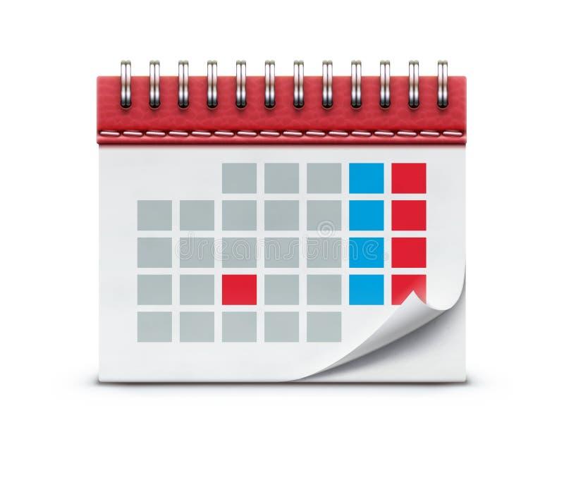 Graphisme de calendrier illustration libre de droits
