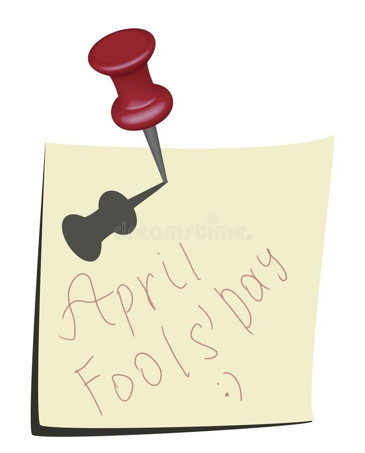 Graphisme de calendrier de jour d'imbéciles d'avril illustration de vecteur