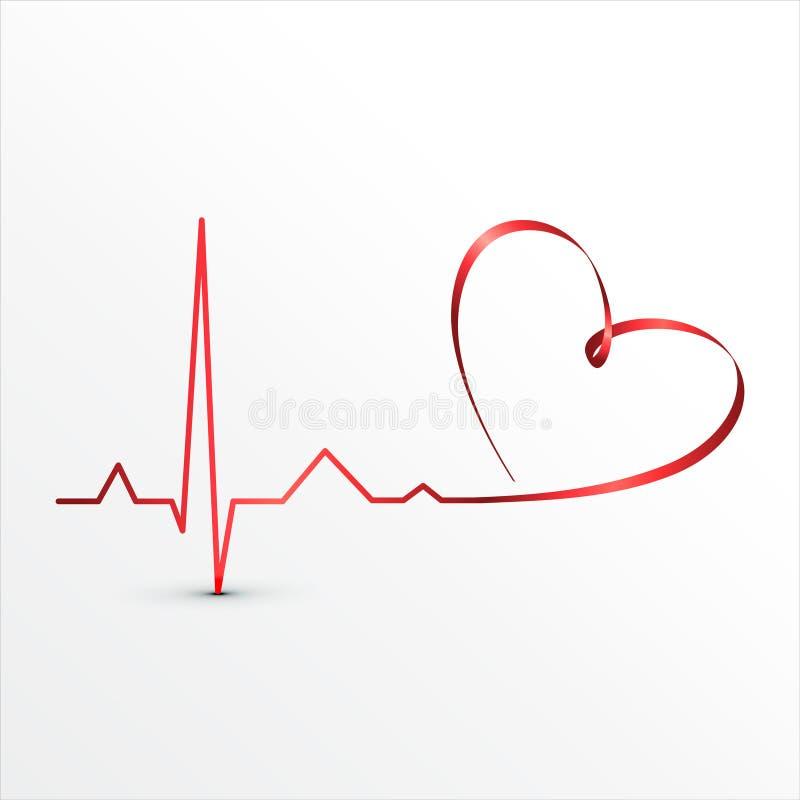 Graphisme de cardiogramme de battements de coeur illustration libre de droits