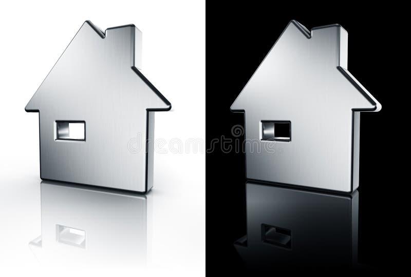 Graphisme de Chambre sur l'étage blanc et noir illustration de vecteur