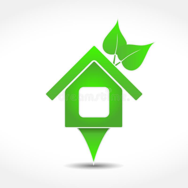 Graphisme de Chambre verte illustration stock