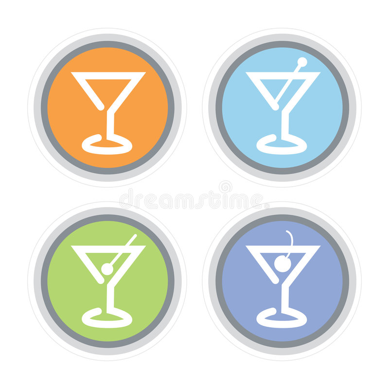 Graphisme de cocktail de Martini illustration libre de droits