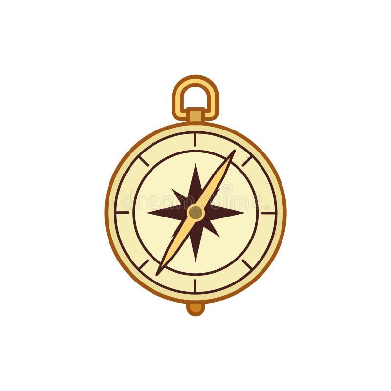 Graphisme de compas illustration stock