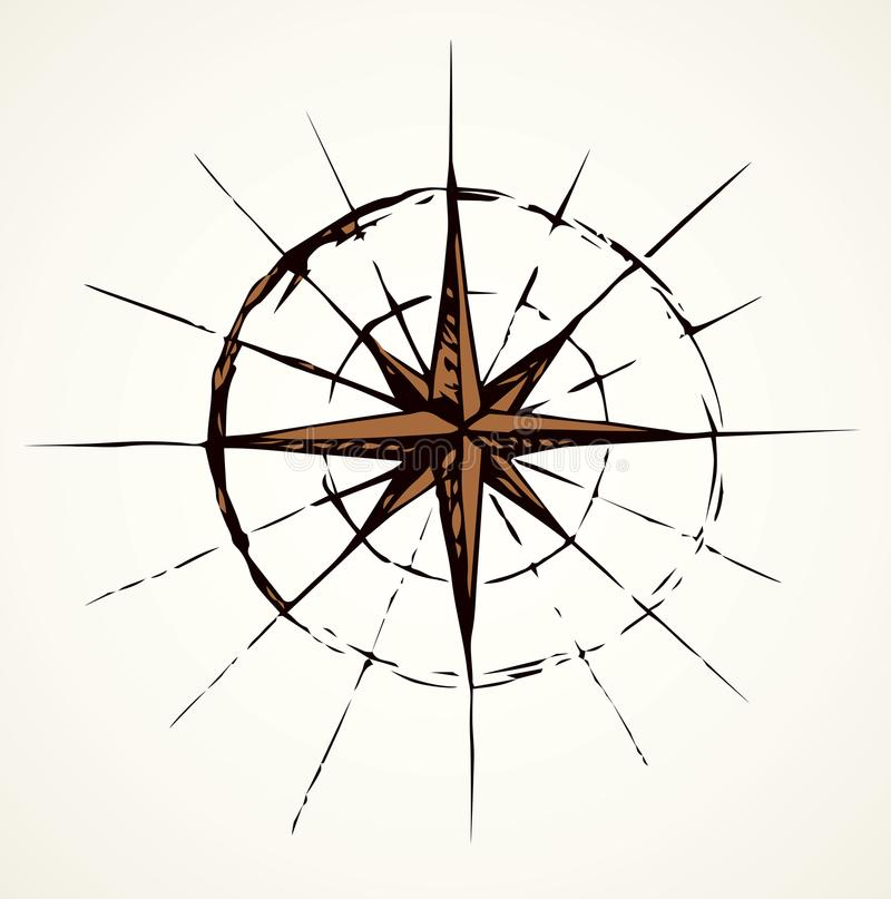 Graphisme de compas Croquis de vecteur illustration libre de droits
