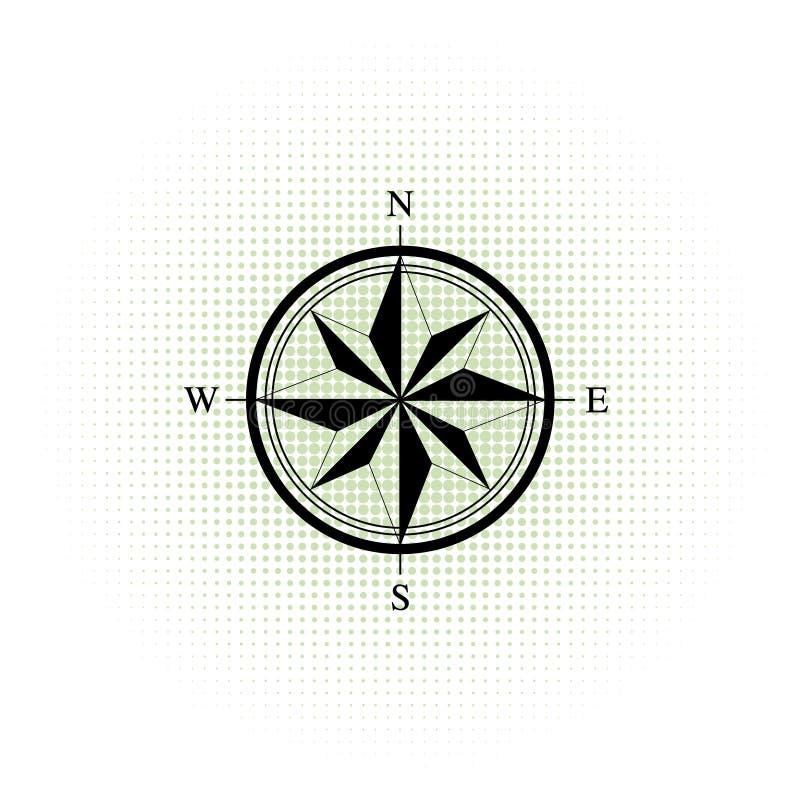 Graphisme de compas Fond tramé abstrait Points tramés Illustration de vecteur illustration de vecteur