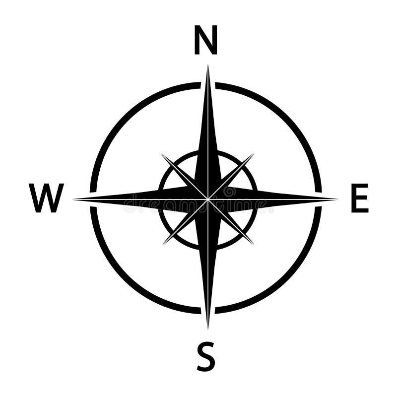 Graphisme de compas Silhouette noire Vecteur illustration stock