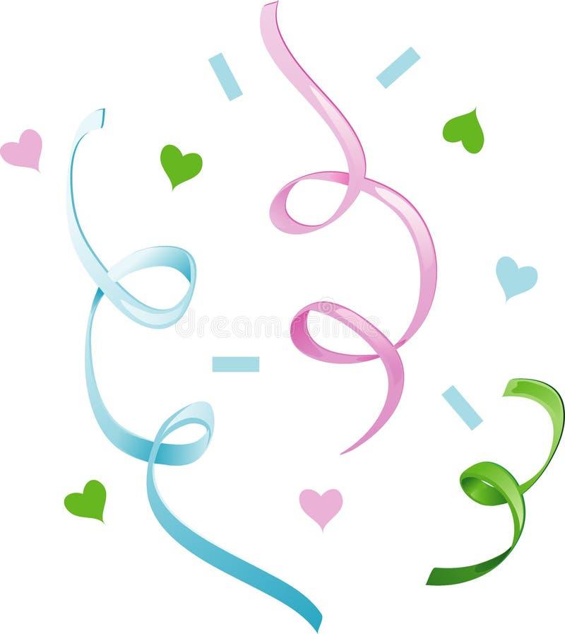 Graphisme de confettis de mariage illustration stock