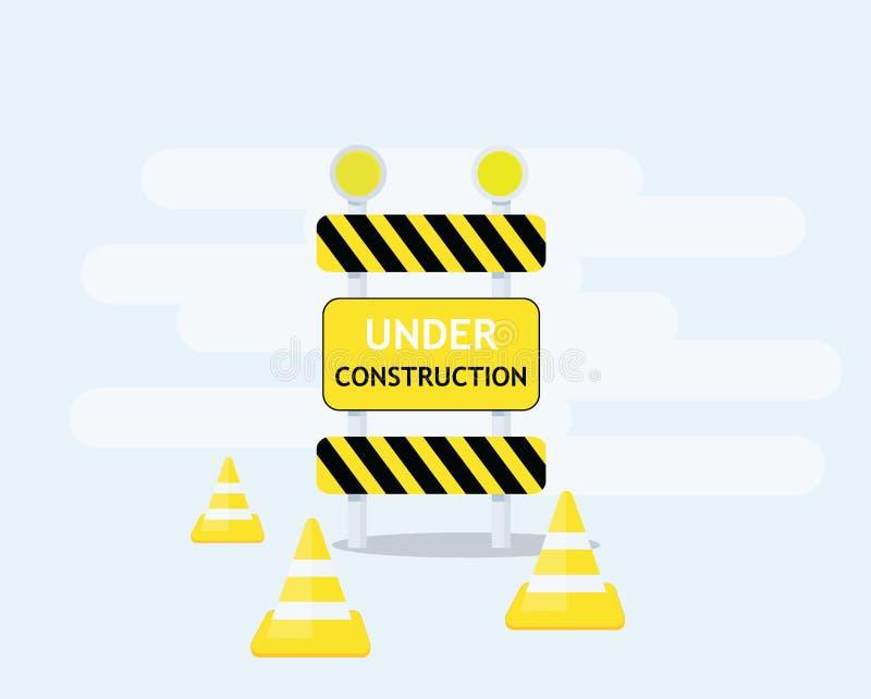 graphisme de construction dessous illustration libre de droits